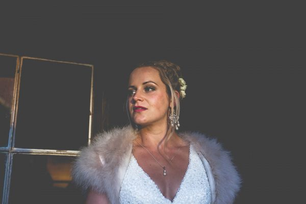 Bride portrait at sunsent