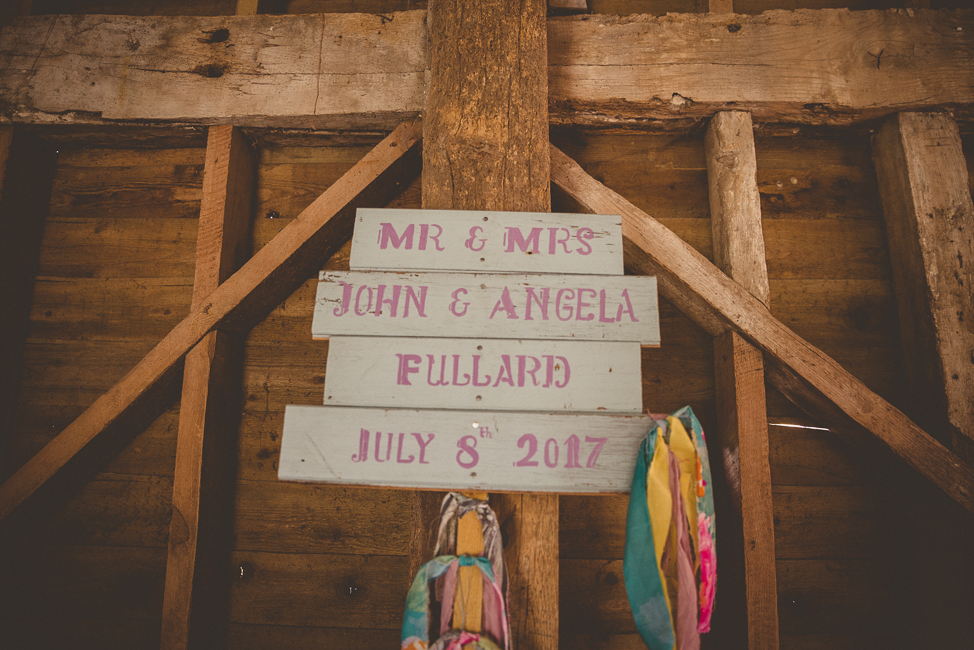 Home made wedding signs