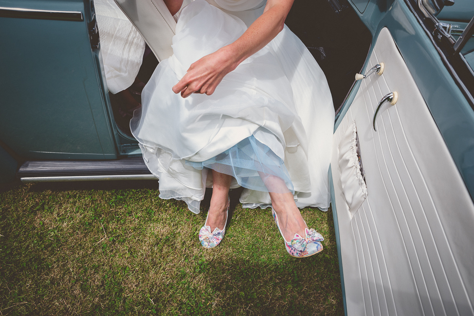 Dress and shoe detail