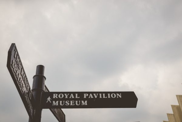 Road sign for the Brighton Pavilion