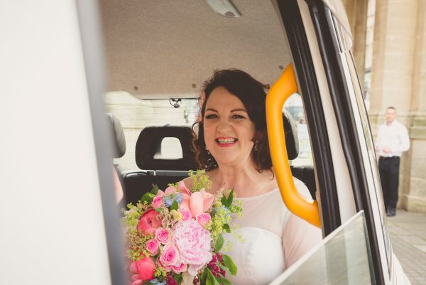 Bride arrives for her Royal Pavilion wedding