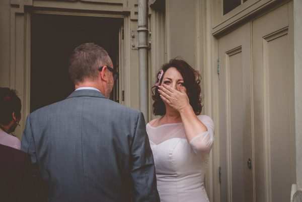 Bride gets emotional at the royal Pavilion