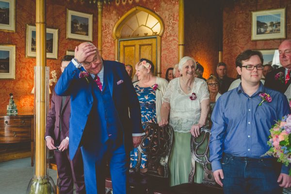 Groom sees his bride for the first time at the royal pavilion Brighton