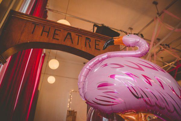 Detail of flamingo balloon